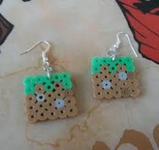 mincraft inspired perler projects perler beads minecraft and minecraft grass block perler bead earrings