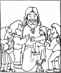 Jesus And The Little Children Coloring Page Free Coloring Pages On