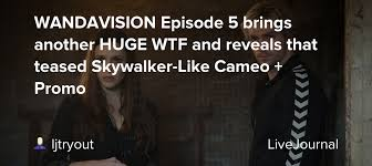 Here's the full release schedule for the coming weeks. Wandavision Episode 5 Brings Another Huge Wtf And Reveals That Teased Skywalker Like Cameo Promo Ohnotheydidnt Livejournal
