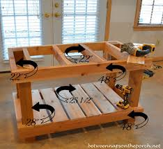 DIY Potting Bench  Idea From Southern Living Magazine We Got Plans For A Potting Bench