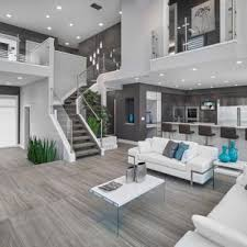 contemporary living room designs. Inspiration For A Contemporary Open Concept Gray Floor Living Room Remodel In Edmonton With Walls Designs