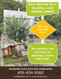 Sample Flyers For Landscaping Business Free Lawn Care Advertising Flyers And Templates Printable