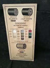 Coats And Clark Thread Chart Details About Vintage J P Coats Clarks Salesman Sample Color Button Carpet Thread Chart