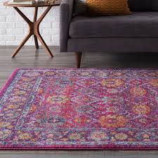 extraordinary purple area rug at mistana daveney reviews wayfair