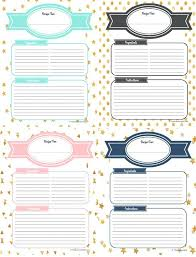 recipe binder template free printable recipe binder categories