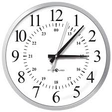 sea3afldrs poe ip network synchronized og wall clock 13 12 24 hour serif numeral silver 48v dc