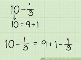 image titled subtract fractions from whole numbers step 7