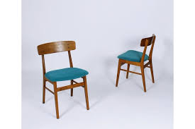 vine mid century danish modern dining chairs from farstrup mobler set of 2 photo 1