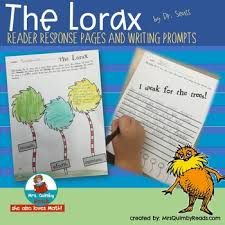 the lorax reader response pages dr seuss book panion