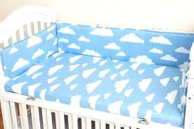 cloud baby bedding bed per fitted sheet 1 set grey pink blue clouds nursery comforter with