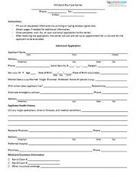 Daycare Form Form for Adult Day Care Center 2