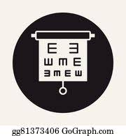 Are All Eye Charts The Same Eps Vector Eye Chart Icon Stock Clipart Illustration