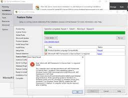 error installing microsoft net