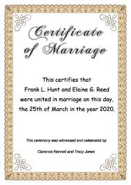 Download Marriage Certificate Online Make From Marriage