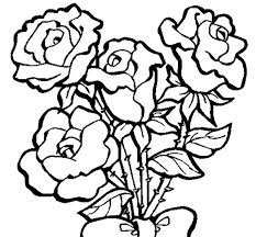 Small Picture Four Roses in Rose Coloring Page Four Roses in Rose Coloring Page