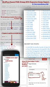 WordPress Genesis HTML Sitemap With Responsive Columns - The ...