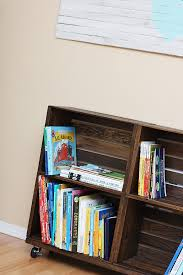 diy wood crate bookshelf wood crate bookshelf