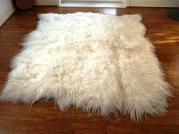faux sheepskin throw for chair black faux fur rug ikea sheepskin