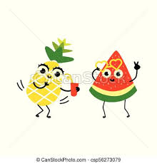 summer party clipart. Brilliant Summer Vector Flat Fruit Summer Party Characters Set To Clipart R