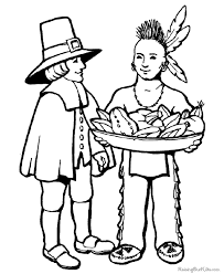 Small Picture Thanksgiving Pilgrim and Indian Coloring Pictures 024