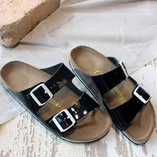 birkenstock ビルケンシュトック 652743 arizona nl natural patent leather arizona men sandals