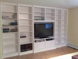 wall shelving units with drawers