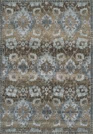 brown contemporary machine made diamonds scrolls ovals area rug fl an5