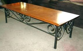 metal wood coffee table bases iron base legs chrome modern for glass tops oversized tab bartlett round