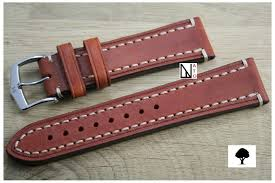 gold brown liberty hirsch watch bracelet vegetable tanning leather