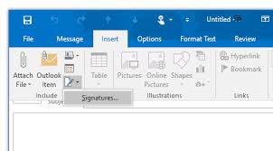 how to create online signature how to create an email signature in outlook 2016 and prior