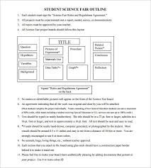 science fair headings printable project outline template 10 free word excel pdf format download