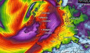 Weather Chart Uk Weather Forecast Chart Turns Purple As Huge Storm Looms