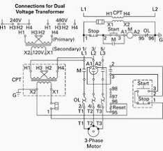forward reverse phase ac motor control star delta wiring diagram control circuit control power transformer cpt