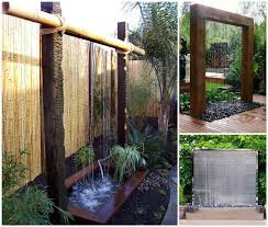 diy stunning outdoor water wall