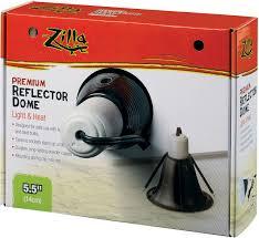 zilla premium reflector light heat black ceramic dome lighting fixture