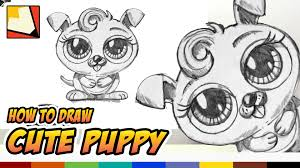Small Picture How to Draw a Cute Puppy Narrated Easy Art for Kids BP
