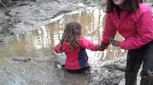 Girls stuck in quicksand