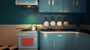 Retro Kitchens For Customizable Retro Kitchen By Nguyen Cong Thai In Environments