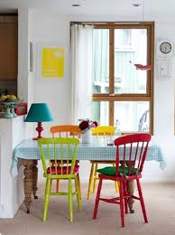 multi colored dining chairs a playful touch for the d cor inside colorful room decor 12