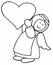 Free Angel Coloring Pages Letscoloringpagescom Cute Angel For