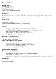 Resume Templates Retail Sales Associate – Betogether