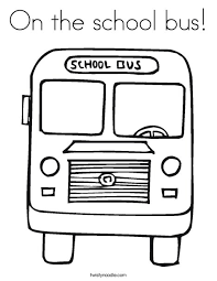 Small Picture On the school bus Coloring Page Twisty Noodle