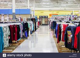 walmart superstore stock photos walmart superstore stock images walmart interior showing a clothing lined aisle stock image