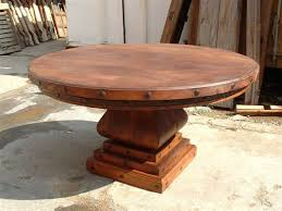 rustic round dining table for reclaimed wood com remodel 5