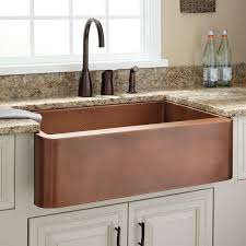 brown polished copper farmhouse kitchen double sink