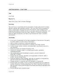Resume For Cook Best Sample Resume Cook Restaurant For Resume Sample ...