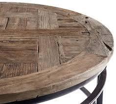 round coffee table with storage parquet