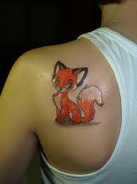 фото и значение татуировки лиса