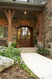 Superior Gorgeous Wooden And Stone Front Porch Ideas (71)