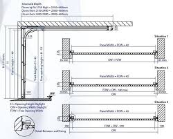 technical specification for gliderol sectional garage doors